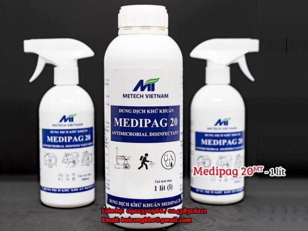 Dung dịch khử khuẩn Medipag 20 MT chai 1 lít