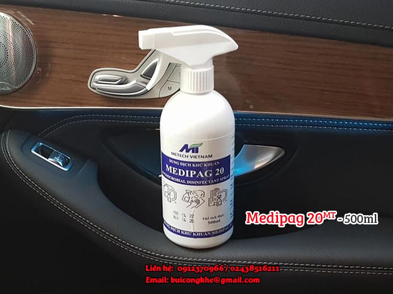 Dung dịch khử khuẩn Medipag 20 MT - 500ml dạng xịt