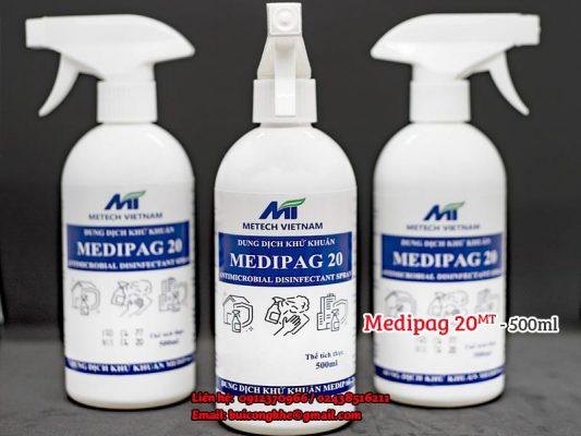 Dung dịch khử khuẩn Medipag 20 MT - 500ml
