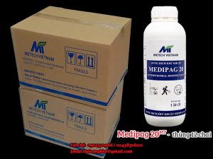 Dung dịch kháng khuẩn Medipag 20 MT thùng 12 chai