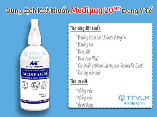 Medipag 20 MT dung dịch khử khuẩn trong Y Tế